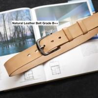 Leather Belt Natural Grade B+ Kualitas Bagus