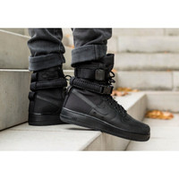 Sepatu Nike SF Air Force 1 High Triple Black Premium Original