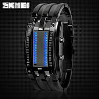 Jual Jam Tangan LED Pria Oakley SKMEI Storm MK2 0926 Hitam Original - Hitam