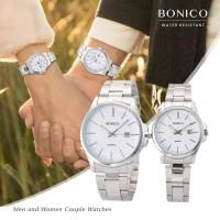 Bonico Jam Tangan Couple (Sepasang) BNC-5896GL-SW Stainless Steel