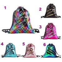 Tas Import / Tas Ransel Serut Sequin / Tas Reverse Sequin String Bag