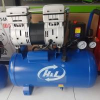 Kompresor Oiless Silent H&L 1HP 24L compressor udara tanpa oli