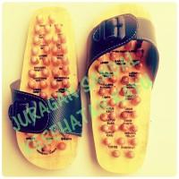Sandal Terapi Kayu, Sendal Refleksi Repleksi Reflexi Kayu, Alas Kaki