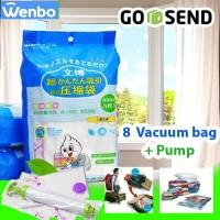 Vacuum Bag Compression (Kantong Kompres) isi 8 Free Pompa