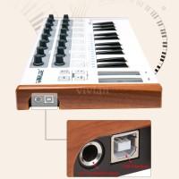 Worlde Ultra-Portable Mini Professional 25-Key USB MIDI Drum Pad and