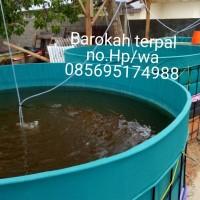 kolam terpal bulat PVC semi karet D2 T.1m