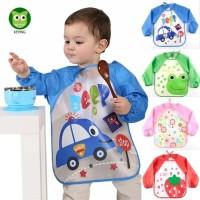 slabber waterproof/baju lukis/baju makan/bib lengan/celemek bayi