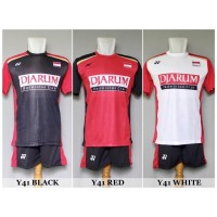Baju Olahraga Kaos Badminton Setelan Bulutangkis Yonex Y41 Murah