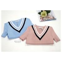 kaos / kaos wanita / baju / baju wanita / atasan wanita / knit / hem