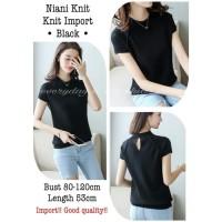 kaos / knit / kaos knit / baju wanita / top / baju