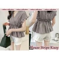 blouse / v neck / baju wanita / baju / atasan / hem
