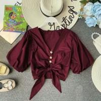 crop top / crop blouse / blouse / baju / blouse wanita / baju wanita