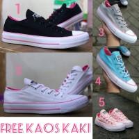 Converse CT size 36 - 40 sepatu wanita sneakers sekolah pink tosca
