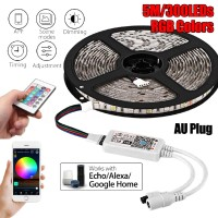 SHP2 16.4Ft Smart Wifi RGB 300 Lampu Strip LED 5050 Untuk Echo Alexa