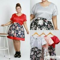 big mini dress import/baju pesta big size XXL/dress pesta XXL jumbo