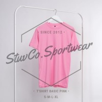KAOS POLOS COTTON COMBED 30s - Size S M L XL - Warna PInk Baby