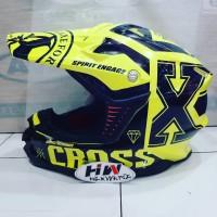 helm fullface cross gm yellow fluo original