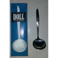 SUPER DOLL 404 Soup Spoon Sendok Sup Sop Stainless Steel Per PCS