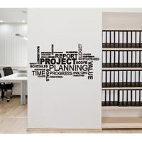 WallStiker Project Chart Office Dekorasi Wall Quotes Sticker Dinding