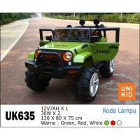 """mainan mobil jeep UNIKID MOBIL AKI 635 """"JEEP"""" UK-635"""