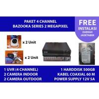 Paket instalasi Kamera CCTV 2MP 4 channel SPC Bazooka (BERGARANSI)