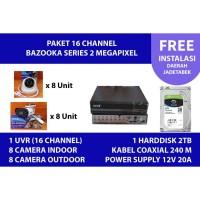 Paket instalasi Kamera CCTV 2MP 16 channel SPC Bazooka (BERGARANSI)