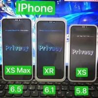 Tempred glass Anti Gores Kaca Full Scren Hitam SPY iphone XR XS XS max - XS MAX