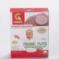 Tepung GASOL Organik Makanan Bubur Bayi Beras Merah MPASI 200 gr