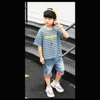 Setelan Pakaian Anak Laki Original Line Jeans Import Murah (ZH-KFC019)