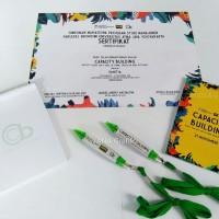 Seminar Kit custom desain murah berupa blocknote pulpen sertifikat