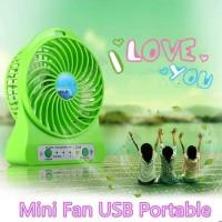 Mini Fan USB Portable/Power Bank Kipas Angin Mini Portable A-01