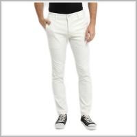 Celana Chino Pria Skinny Fit Panjang Putih - Premium Quality