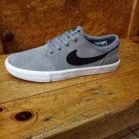 sepatu nike sb portmore grey original