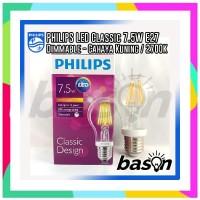 SS PHILIPS LED Classic 7.5W A60 E27 Warm White Dimmable - Decorative L