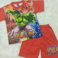Baju Kaos Setelan Murah Anak Laki - HULK