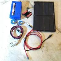 Aerator solar panel otomatis mati lampu