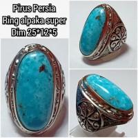 cincin natural batu Akik permata pirus persia naizabur z4