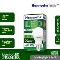 Hannochs - Lampu LED Premier - 3 watt - cahaya Putih