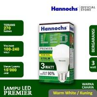 Hannochs - Lampu LED Premier - 3 watt - cahaya Kuning