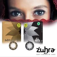 Softlens Exoticon Zuhra Black & Choco bisa Normal dan Minus - Hitam