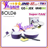BOLDe Super Pan Granite Set Purple Panci Ceramic Set 5 Pcs home equipm