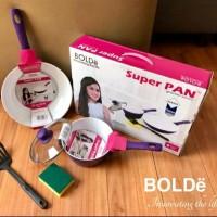 BOLDe Super Pan Granite Set Purple 5 Pcs ORIGINAL BARU home equipment