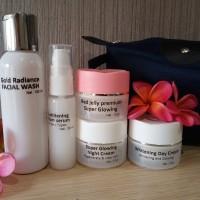 Cream Super Glowing paket/Extract Whitening/racikan medis/free pouch