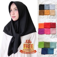 Jilbab Voal Polos Segi Empat 110x110 ( 19 pilihan warna )
