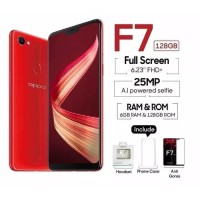 OPPO F7 PRO 6GB 128GB - GARANSI RESMI OPPO INDONESIA - Red