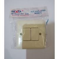 Saklar SERI IB DEXTA DX-802 Sakelar Dobel Pencetan Lampu Tanam Tembok
