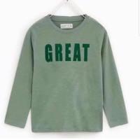 Zara Kids Long Sleeves 5-13/14T Hijau Baju Anak Branded