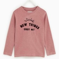 Zara Kids Long Sleeves 5-12T Pink Baju Anak Branded