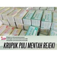 Krupuk Puli REJEKI mentah asli Jawa Timur (rasa Keju & Bawang)