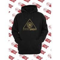 Jaket Hoodie Distro PREMIUM Shining Bright Logo Gold